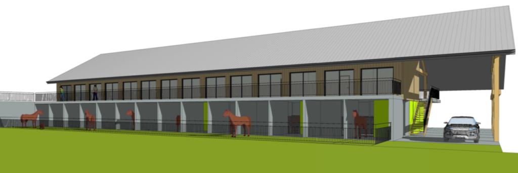 Le centre équestre Juventin construit un ensemble de box pour la pension des chevaux en Savoie.